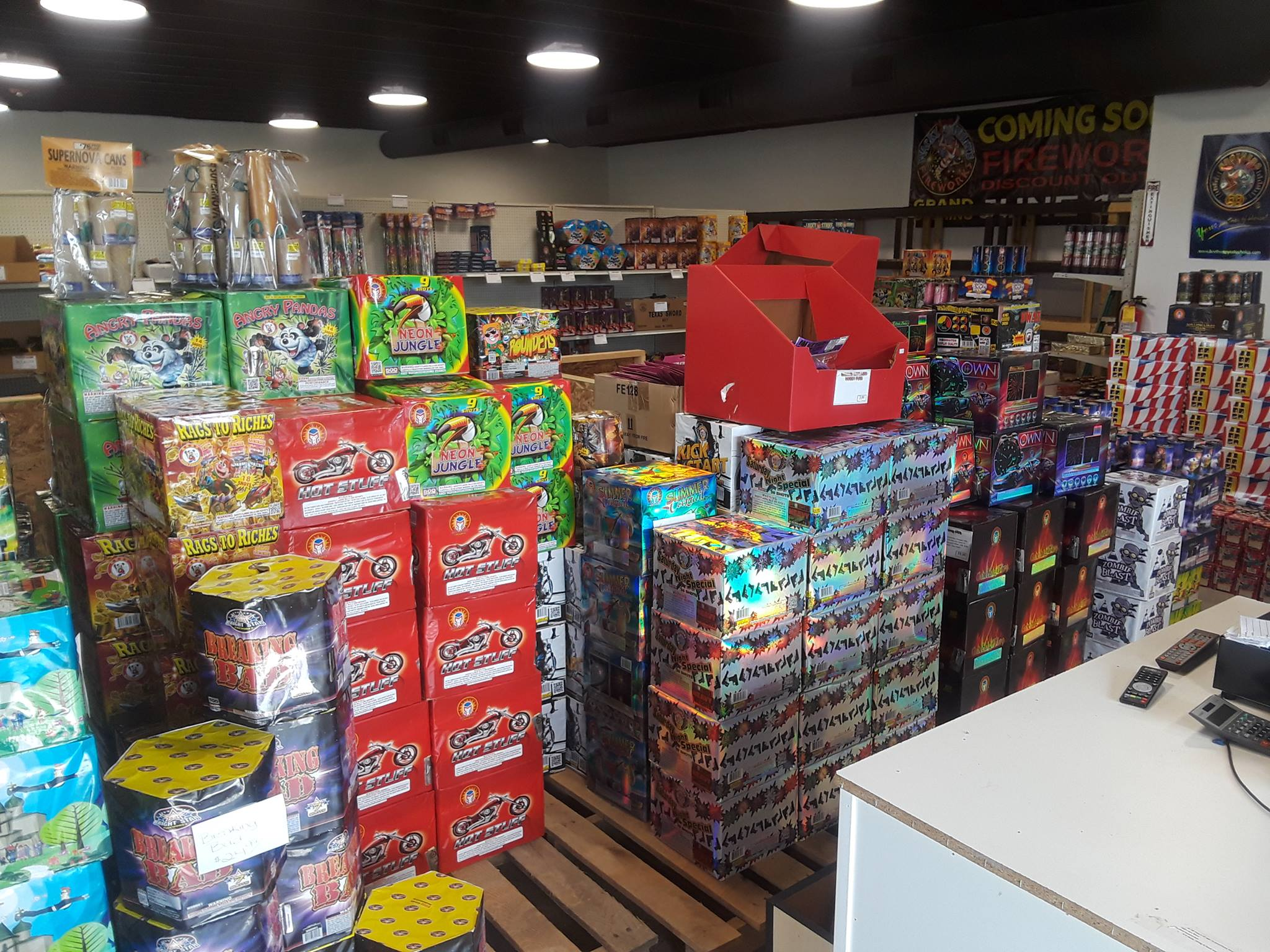 Wacky Willy's Fireworks Store Display
